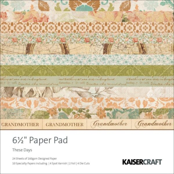 """These Days -Paper Pad 6.5"""" x 6.5"""""""