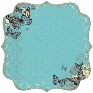 Botanical Odyssey - Spot Varnish Die-Cut Paper - Lattice