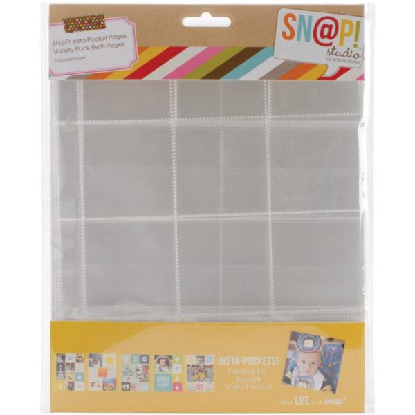 "Sn@p! Insta Pocket Pages For 6""X8"" Binders - Variety Pack"