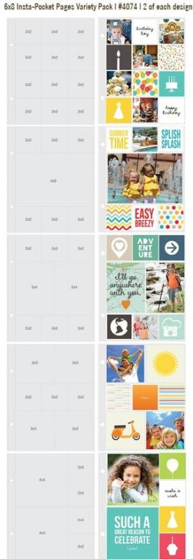 "Sn@p! Insta Pocket Pages For 6""X8"" Binders 10/Pkg"