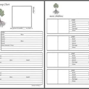 "Our Roots - 8"" x 8"" - Family Group Chart 6"