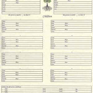 "Our Roots - 8.5"" X 11"" - Family Group Chart 1"