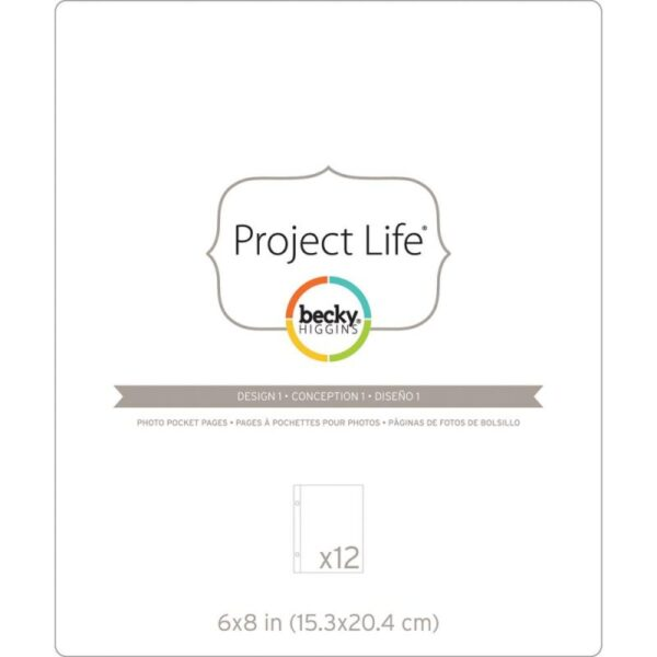 "Project Life - Photo Pocket Pages - Design 1 - 6""x 8"""