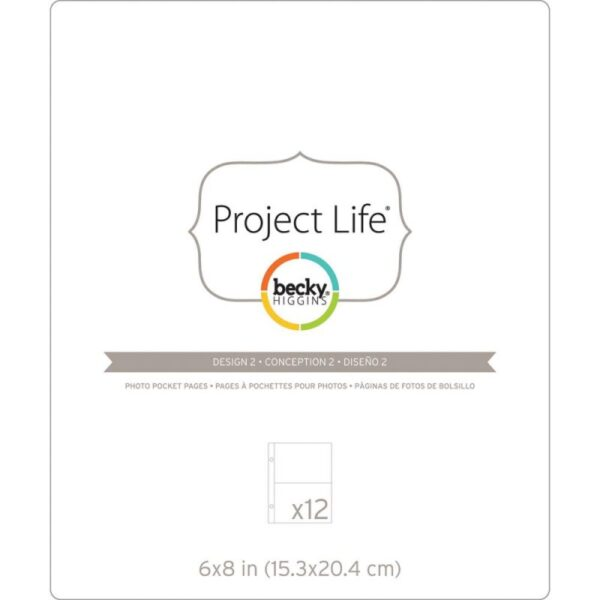 "Project Life - Photo Pocket Pages - Design 2 - 6""x 8"""