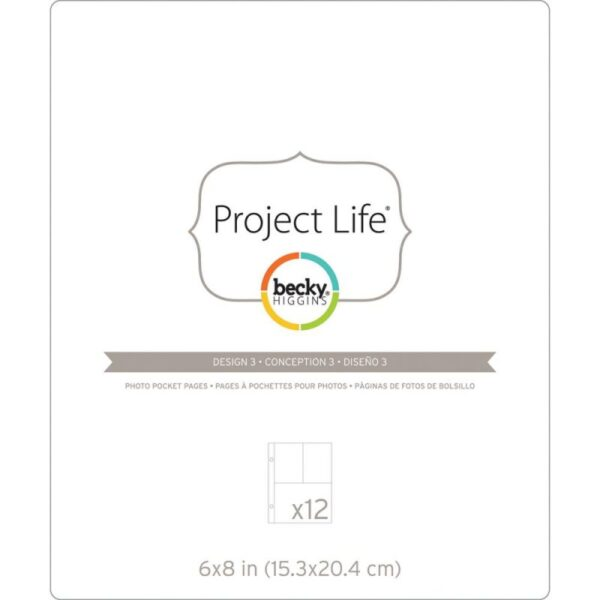 "Project Life - Photo Pocket Pages - Design 3 - 6""x 8"""
