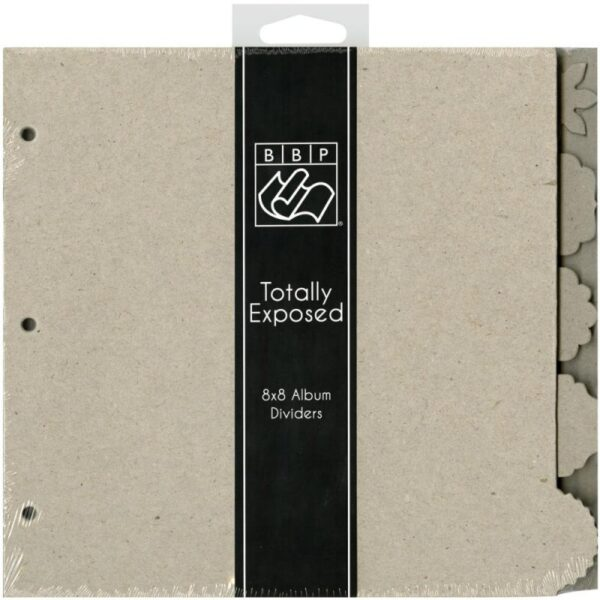 "Totally Exposed - Chipboard Divider Pages - 8""X8"" 5/Pkg"