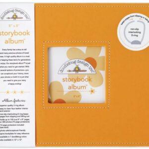 "Storybook Album - 8"" x 8"" - Tangerine"