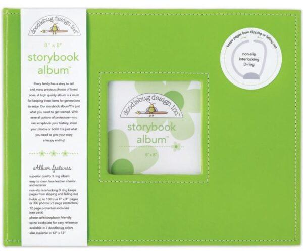 "Storybook Album - 8"" x 8"" - Limeade"