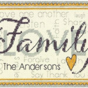 Family - Mini Counted Cross Stitch Kit