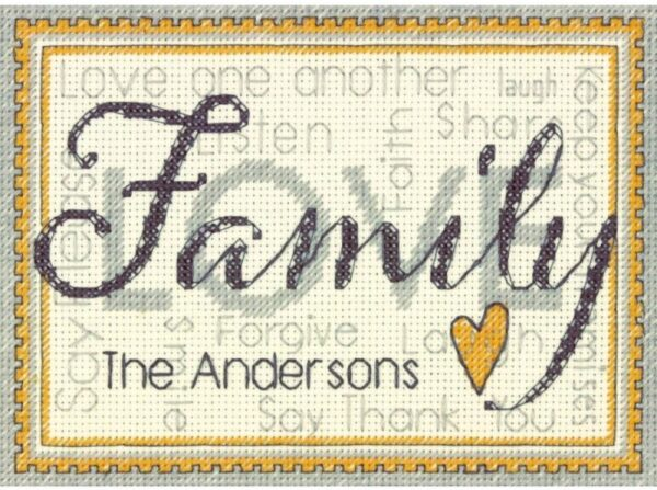 Family - Mini Counted Cross Stitch Kit