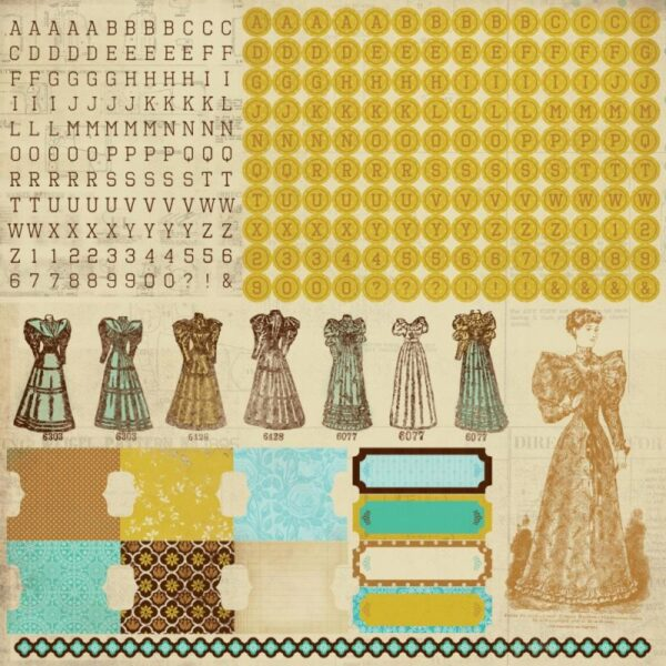 Madam Boutique Collection - Alpha Sticker Sheet