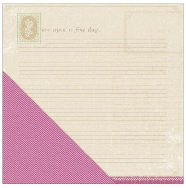 Fern & Forest Girl - Fairytale Journal / Dark Pink Chevron