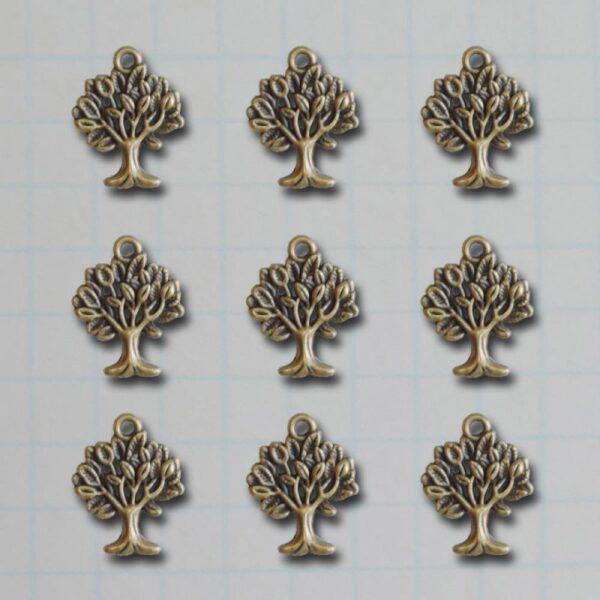 Vintage Metal Charms - Mini Trees