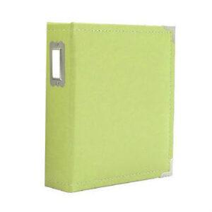 """Sn@p! Leather Binder 6""""X8"""" - Green"""