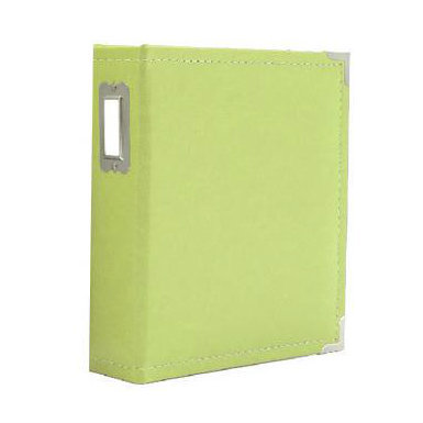 "Sn@p! Leather Binder 6""X8"" - Green"