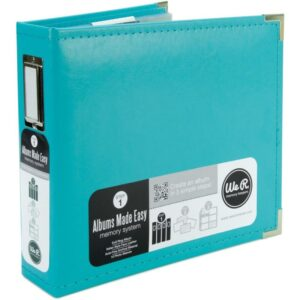 "We R Classic Leather Ring Binder - 8""x 8"""