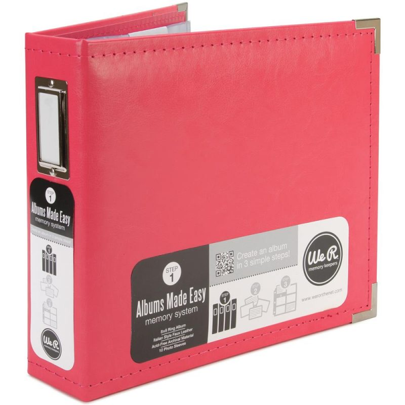 We R Classic Leather Ring Binder – 8″x 8″