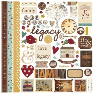 "Legacy - Fundamentals - Stickers 12"" x 12"""