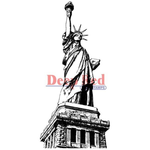 Deep Red - Cling Stamps - Statue Of Liberty