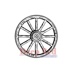 Deep Red - Cling Stamps - Wagon Wheel