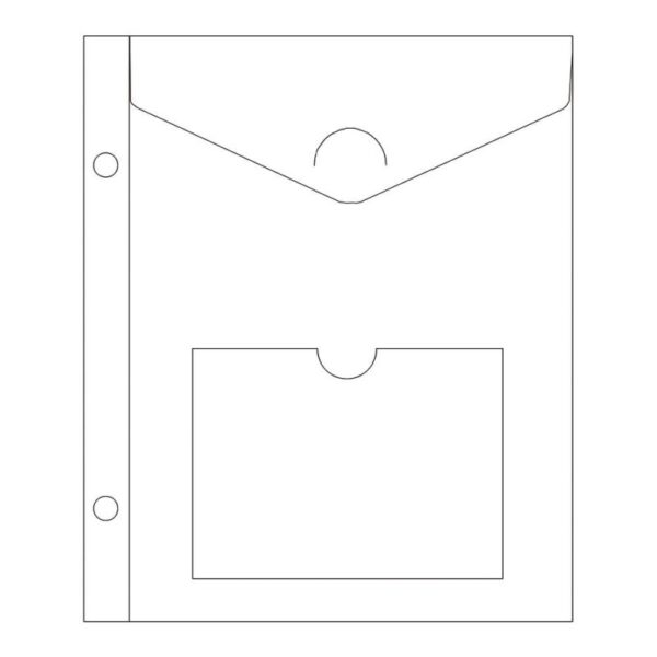 """Project Life - Envelope Page with Pocket - 6""""X8"""""""
