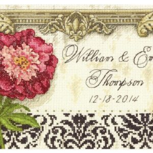 Gold Petite Elegant Wedding Record Counted Cross Stitch Kit