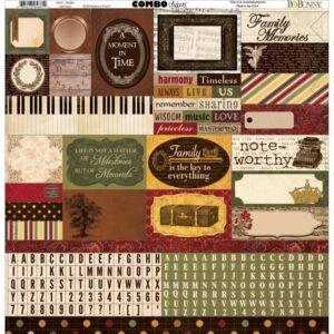 "Heritage - Combo Stickers 12""X12"""