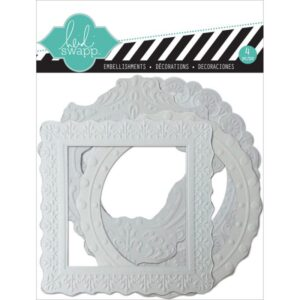 Color Magic Resist Embossed Paper Frames 4/Pkg