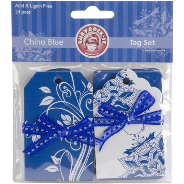 China Blue - Tags - 24/Pkg