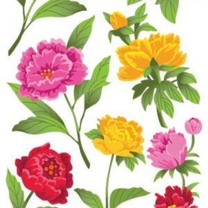 Sticko Classic Stickers - Peonies