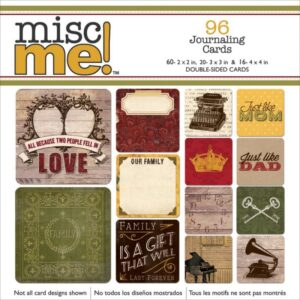 Misc Me - Heritage - Pocket Squares Journaling Cards