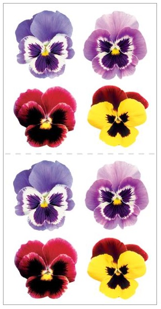 Paper House Stickers - Pansies