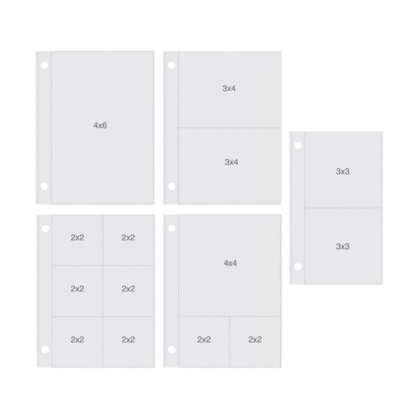 "Sn@p! Pocket Pages For 4""X6"" Binders 10/Pkg"