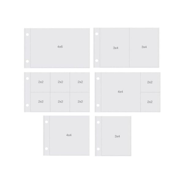 "Sn@p! Pocket Pages For 4""X6"" Binders 12/Pkg"