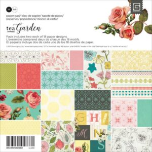 "Tea Garden - Double-Sided Cardstock Pad 6""X6"""