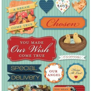 Adoption Day - Cardstock Stickers