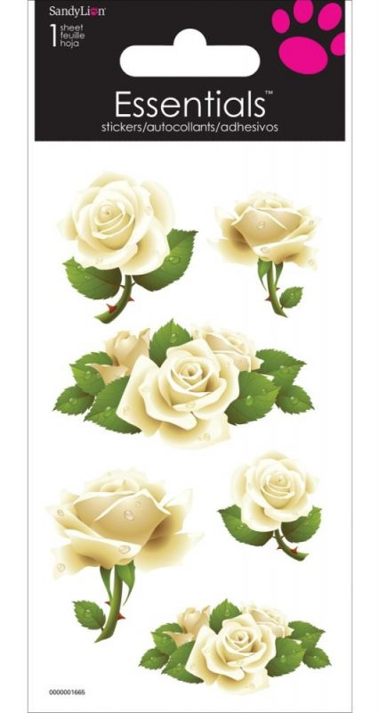 White Roses - Dimensional Essentials Stickers