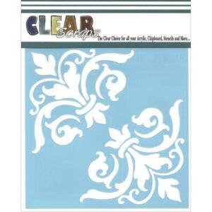 Clear Scraps Stencils - Corner Flourish