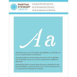 "Martha Stewart - Monogram Flourish - Font Size 1.25"""