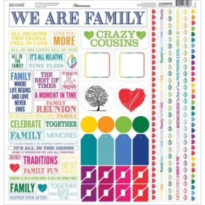 "Our Family - Cardstock Multi Stickers 12""X12"""