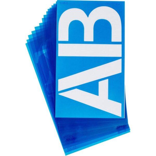 "Alphabet Stencils - Helvetica 6"""