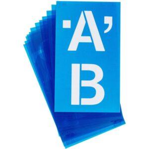 "Alphabet Stencils - Helvetica 4"""