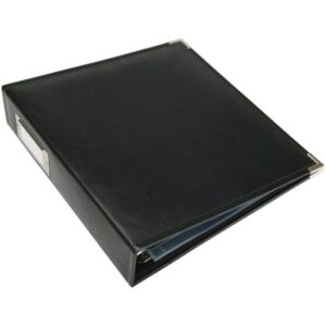 "We R Classic Leather Ring Binder - 8.5""x 11"" - Black"