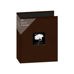 "Pioneer 3-Ring Fabric Album 8.5""X11"" - Brown"