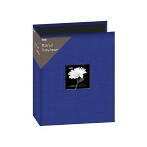 """Pioneer 3-Ring Fabric Album 8.5""""X11"""" - Blue"""