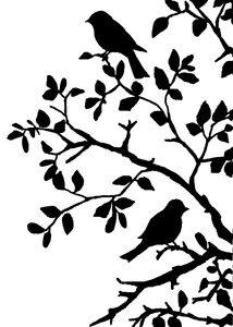 Bird on Branch Silhouette