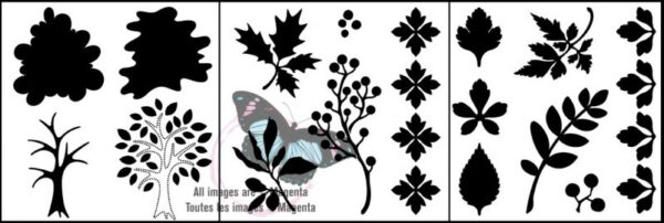 "Trio Templates - Trees & Foliage - 6"" x 6"""