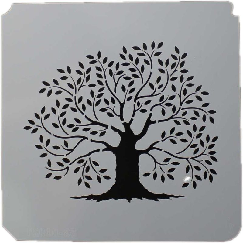 istencils 8 u2033x 8 u2033  u2013 primitive tree of life