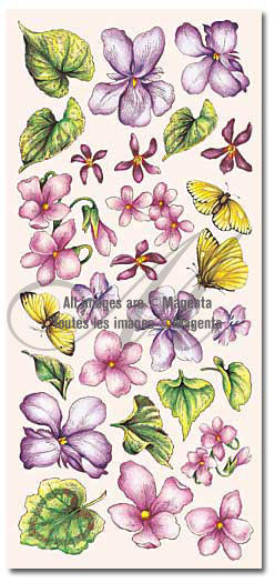 Violet Blooms Stickers