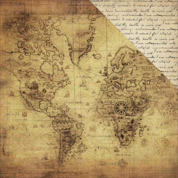 Transatlantic Travel - Vintage Map